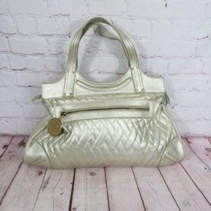 Felix Rey Large Metallic Leather Purse Bag